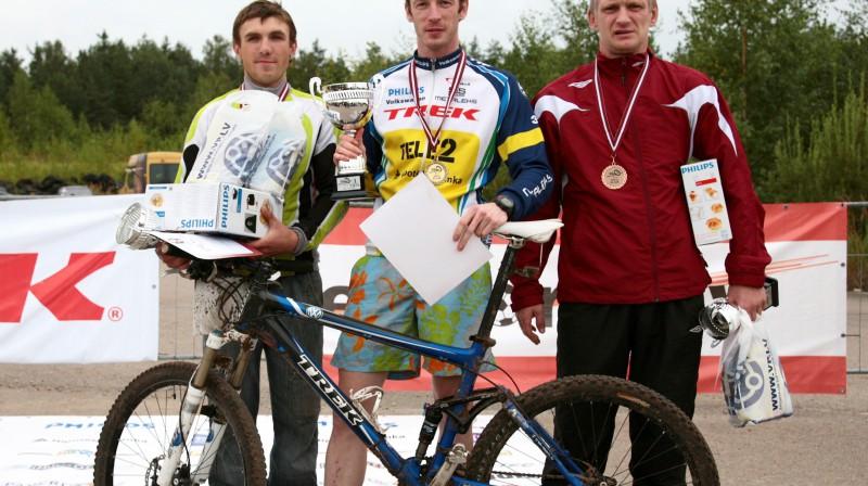 Solo klases uzvarētāji: Gatis Stērste (no kreisās), Ingus Bunkovskis un Vilnis Klinovičs. Foto: Ritvars Raits