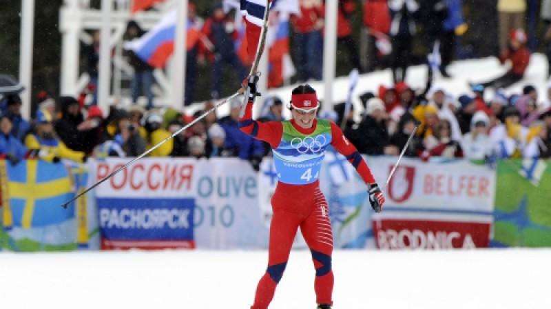 Marita Bjergena finiša taisnē Foto: AFP/Scanpix