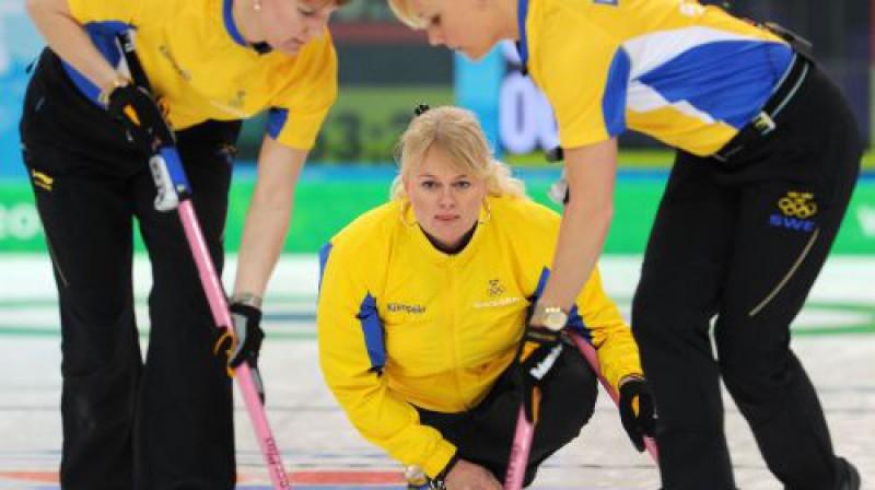 Anete Norberga nodrošināja savai komandai uzvaru Foto: AFP/Scanpix