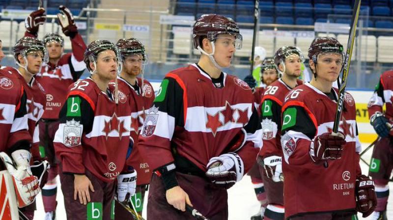 Latvijas hokeja izlase. Foto: Jekaterina Urošļeva