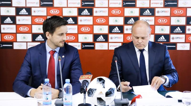 Edgars Pukinsks un Miksu Pātelainens. Foto: Dmitrijs Suļžics/f64