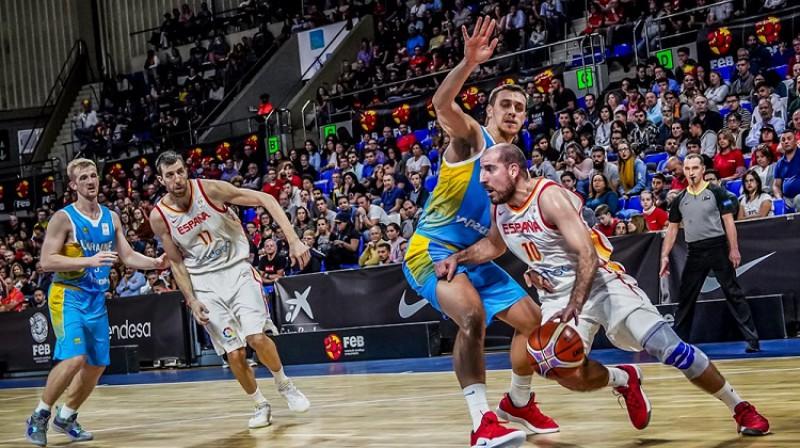 Kvino Koloms 2. decembra spēlē pret Ukrainu. Foto: FIBA