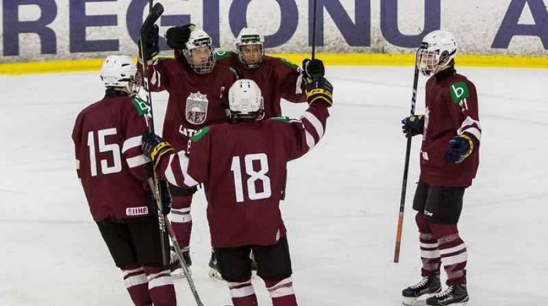 Latvijas U18 hokeja izlase. Foto: Guntis Lazdāns