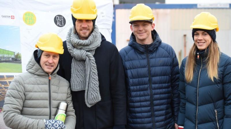 Andris Blaka (no kreisās), Aleksandrs Samoilovs, Jānis Šmēdiņš, Tīna Graudiņa. Publicitātes foto