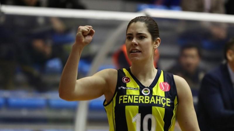 """Kelsija Plama: 15 punkti uzvarā pār """"Hatay"""". Foto: FIBA"""
