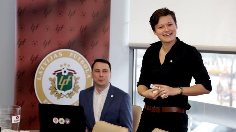 """FS """"Metta"""" galvenā trenere Liene Vāciete. Foto: Latvijas Futbola federācija"""