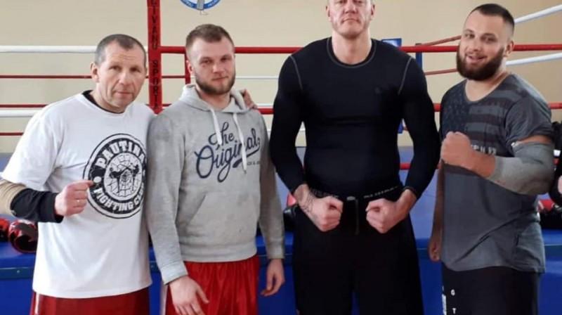 Josifs Kovči (no kreisās), Kristaps Bulmeisters, Kaspars Kambala un Kristaps Zutis Foto: A.R. Studija