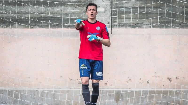 Nils Toms Puriņš pirmssezonas turnīrā Kiprā / Foto: Zigismunds Zālmanis (Riga FC)