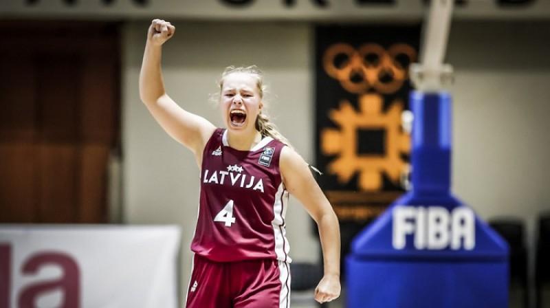 Jete Nulle spēlē pret Poliju. Foto: FIBA