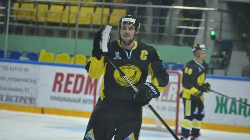 """Karagandas """"Saryarka"""" kapteinis Edgars Siksna. Foto: vhlru.ru"""