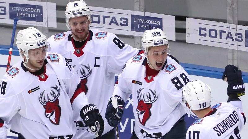"Ņižņijnovgorodas ""Torpedo"" hokejisti. Foto: Dmitry Feoktistov/TASS/Scanpix"