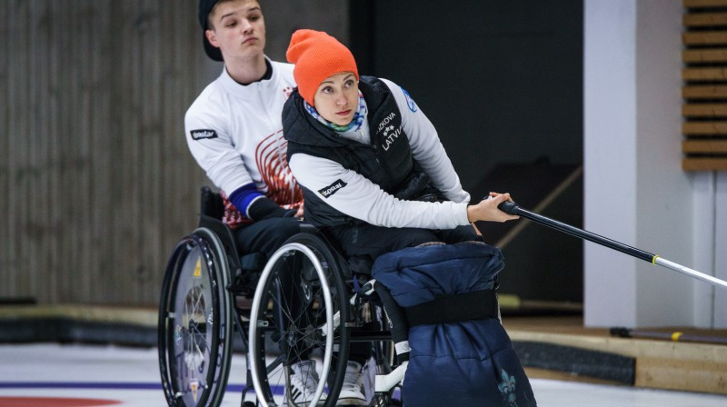 Sergejs Djačenko, Poļina Rožkova Latvijas ratiņkērlinga izlases spēlētāji