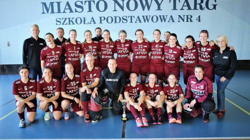 Latvijas izlase. Foto: Ritvars Raits, floorball.lv