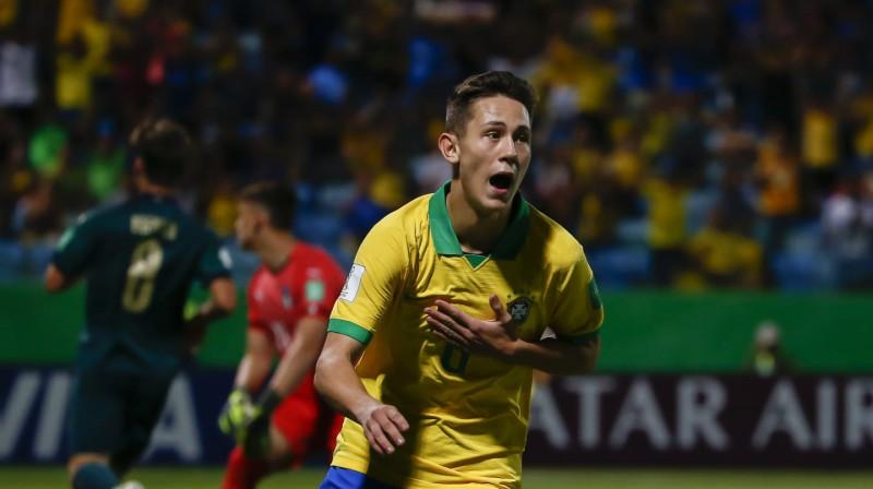 Brazīlijas U17 izlases aizsargs Patriks. Foto: fifa.com