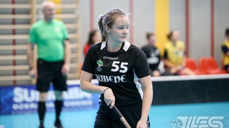 Līgas rezultatīvākā spēlētāja Laura Gaugere (Rubene). Foto: Ritvars Raits, floorball.lv