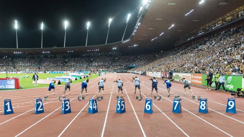 "2019. gada ""Weltklasse Zürich"" sacensības ""Letzigrund"" stadionā. Foto: Imago images/Scanpix."