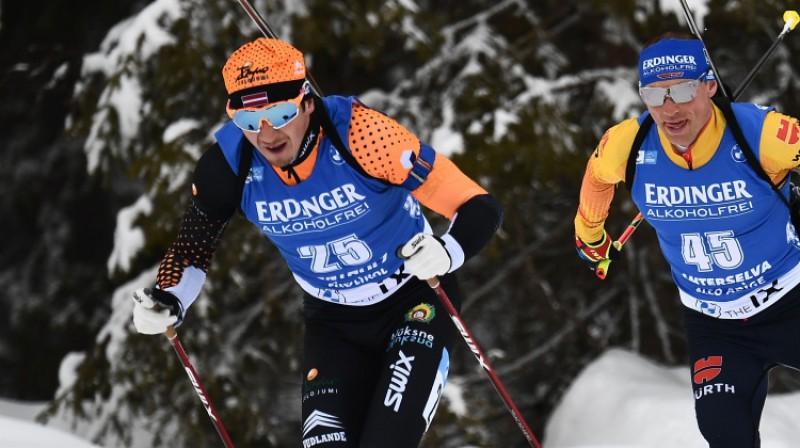 Andrejs Rastorgujevs un Eriks Lesers Antholcas trasē. Foto: AFP/Scanpix