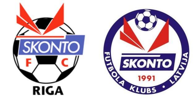 """Skonto"" kluba logo pa desmitgadēm?"