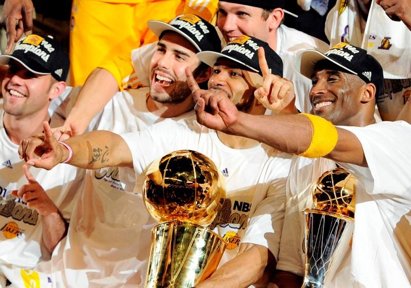 """NBA čempioni – """"Lakers"""" basketbolisti"""
