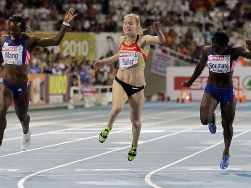 Dāmu 100 m sprintā uzvar vāciete Zailere