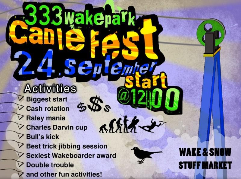 "Sestdien notiks ""333Wakepark Cable Fest"""