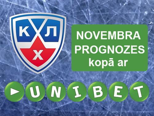 KHL prognožu čempions novembrī - balkons
