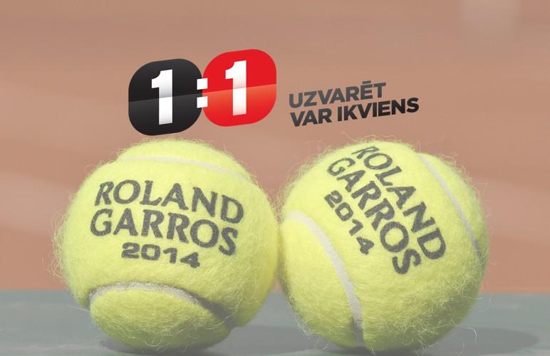 """Konkurss: """"French Open"""" tenisa spēlē kopā ar viensviens.lv"""