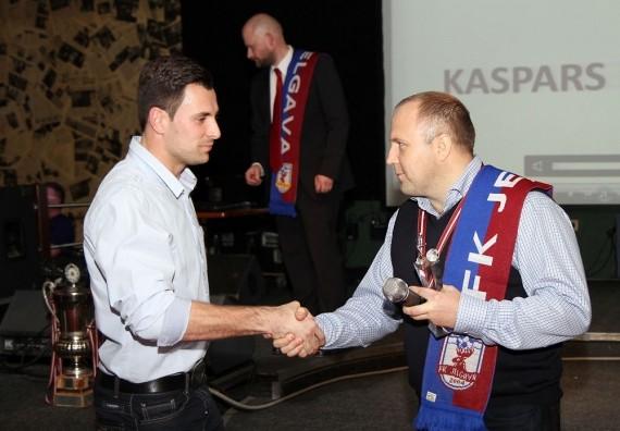 Virslīgas labākais vārtsargs Ikstens pagarina līgumu ar ''Jelgavu'' līdz 2016. gadam