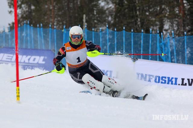 L.Gasūna EK milzu slalomā 49.vietā, A.Āboltiņai punktu rekords FIS sacensībās