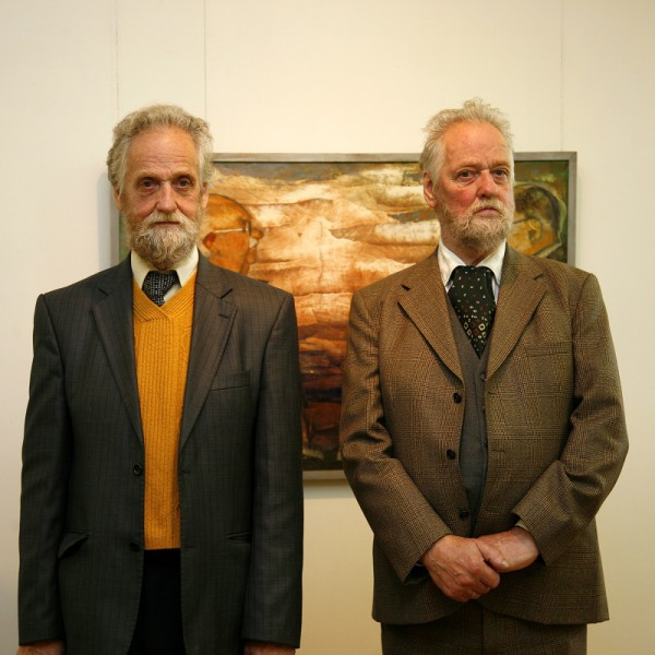 Atklāta Andreja Ģērmaņa un Jura Ģērmaņa 75 gadu jubilejas izstāde Tukuma Mākslas muzejā
