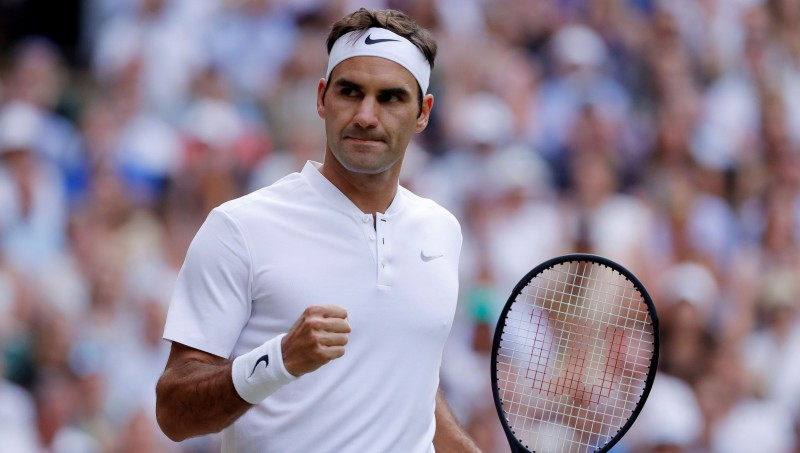 Federers 15. reizi sasniedz Vimbldonas astotdaļfinālu