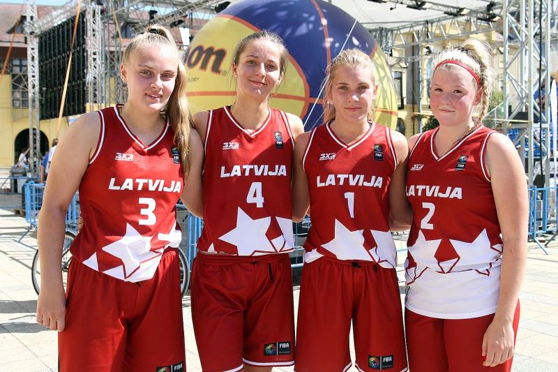 Latvijas U18 izlases basketbolistes neiekļūst Eiropas 3x3 kausa ceturtdaļfinālā