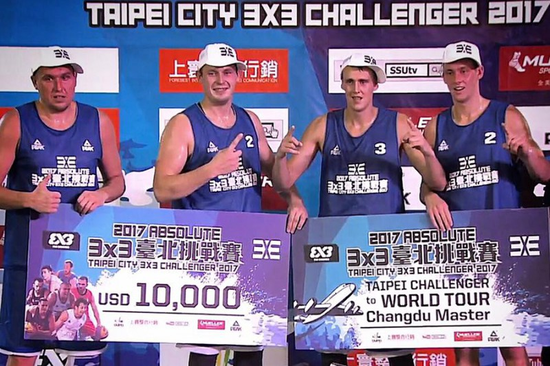 """Rīga Ghetto Basket"" basketbolisti uzvar FIBA 3x3 ""Challenger"" turnīrā Taipejā"