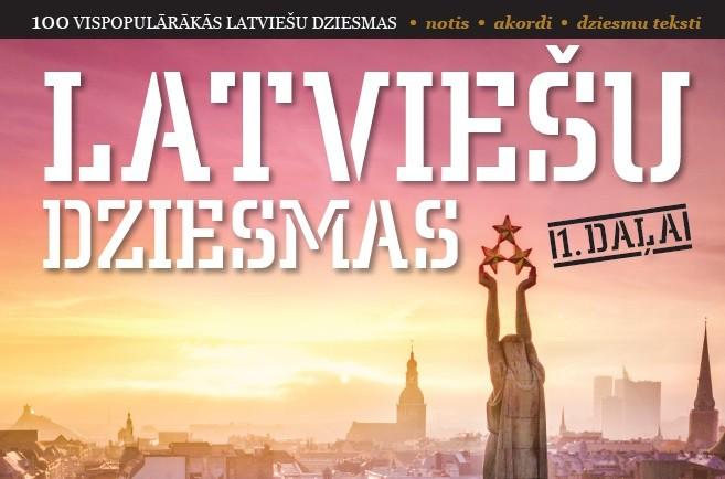 100 vispopulārākās latviešu dziesmas vienā nošu grāmatā!