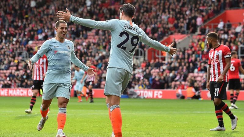 """""""Chelsea"""" pārliecinoši pieveic """"Southampton"""", Azārs turpina bombardēt"""