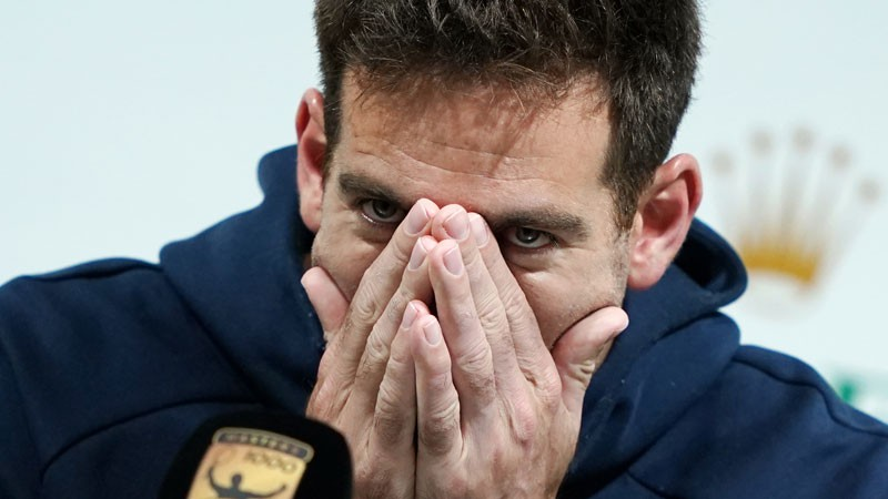 """Del Potro pēc kritiena Šanhajā varētu izlaist """"ATP World Tour Finals"""""""
