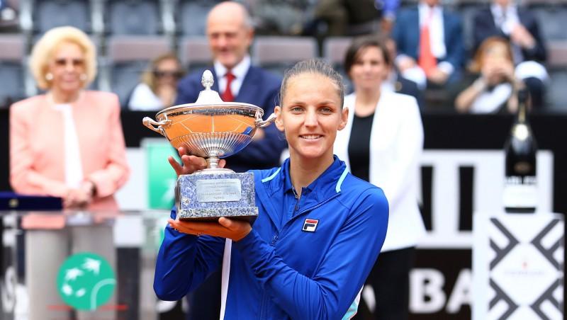 Pliškova Romā iegūst 13. WTA titulu