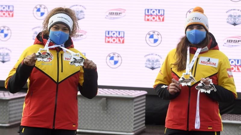 Sieviešu bobslejā Siguldā uzvar Vācijas divnieks, krīt divas ekipāžas