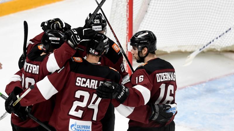 """""""Dinamo"""" noslēgs mājas spēļu sēriju ar cīņu pret KHL vicelīderi"""