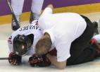 Pret Latviju gūtā trauma liek olimpiādi pāragri noslēgt Kanādas līderim Tavaresam