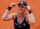 """Podoroska satriec Svitoļinu, pirmoreiz """"Grand Slam"""" pusfinālā tiek arī Švjonteka"""