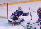Video: KHL janvāra atvairījumos triumfē nūju nometušais Askarovs