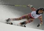 Daudz ļoti vāju dalībnieču sievietēm PČ milzu slalomā