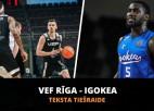 Teksta tiešraide: ''VEF Rīga'' - ''Igokea'' (spēle galā)