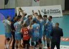 """Video: Bronzas spēlē """"Jēkabpils Lūši"""" trīs setos pieveic Tartu """"Bigbank"""""""