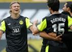 """Dortmunde desmit minūšu laikā atspēlējas, iesit trīs vārtus un pieveic """"Werder"""""""