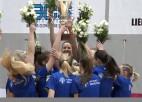 """Video: """"Latvijas Universitātes"""" basketbolistes izcīna LSBL bronzas medaļas"""