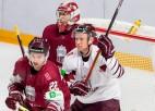 """Latvijas hokeja izlase pārceļas uz """"Arēnu Rīga"""" un aizvada treniņspēli"""