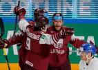 Neieskaitīto vārtu spēlē divi Karsuma <i>goli</i> Latvijai atnes otro uzvaru turnīrā