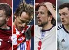 """""""Euro 2020"""" D grupa: angļu uzbrukums, Modriča faktors un skotu atgriešanās"""